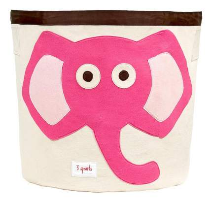 Корзина для хранения игрушек 3 sprouts Слоненок розовый