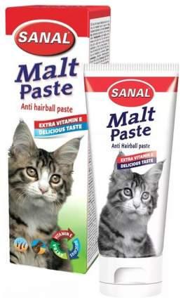 Мальт-паста для выведения шерсти для кошек Sanal + Витамин Е, 20 г