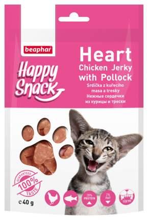 Лакомство для кошек Happy Snack, курица, треска, 1шт, 0,04кг
