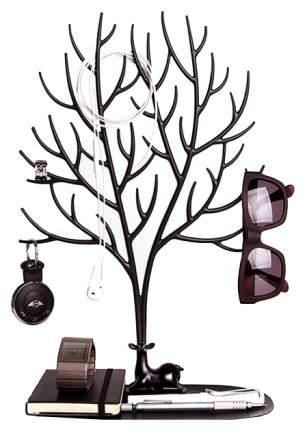 Декоративный органайзер для украшений Qualy QL10172-BK Deer большой Черный