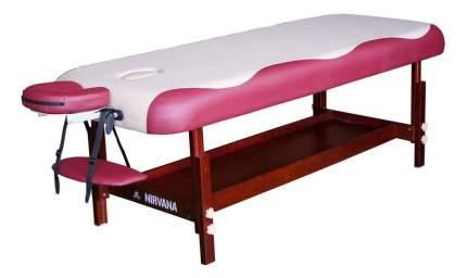Массажный стол стационарный DFC Superior beige/red