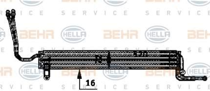 Радиатор АКПП Hella 8MO 376 726-361