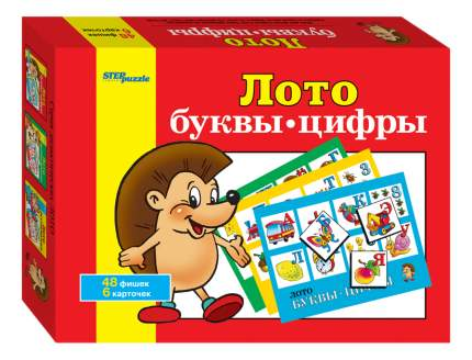 Семейная настольная игра Step Puzzle Лото Буквы цифры