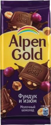 Шоколад молочный Alpen Gold фундук и изюм 85 г