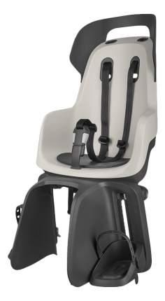 Велокресло BOBIKE Go Carrier с креплением на багажник светло-серое