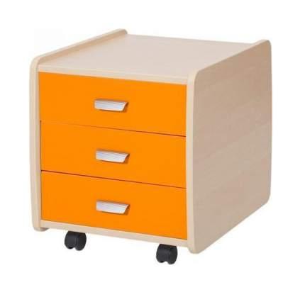 Тумба детская Астек Лидер 3 ящика береза оранжевый