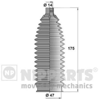 Пыльник рулевой рейки Nipparts N2845006