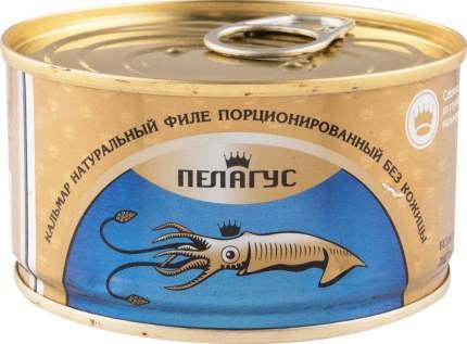 Кальмар натуральный филе без кожи Пелагус порционированный 185 г
