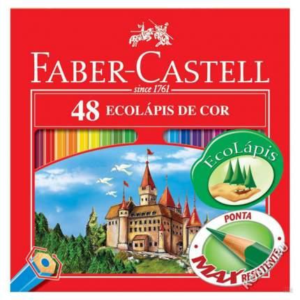 Цветные карандаши Faber Castell ECO Замок с точилкой 120148 48 цветов