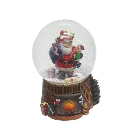 NX26994 (1-12) Новогодний декор Санта в шаре 100мм, музыка, механический 11*11*15см