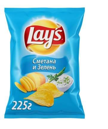 Картофельные чипсы Lay's сметана и зелень 225 г
