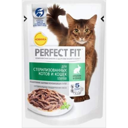 Влажный корм для кошек Perfect Fit Sterile, для стерилизованных, с кроликом в соусе, 85г