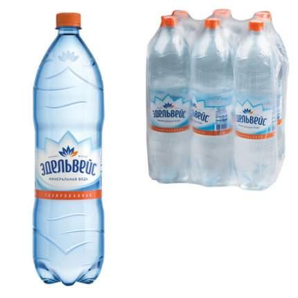 Вода минеральная Эдельвейс газированная пластик 1.5 л 6 штук