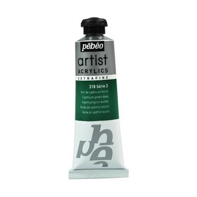 Акриловая краска Pebeo Artist Acrylics extra fine №3 кадмий зеленый темный 37 мл