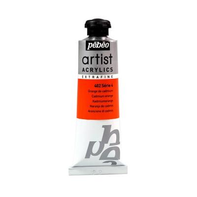 Акриловая краска Pebeo Artist Acrylics extra fine №4 кадмий оранжевый 37 мл