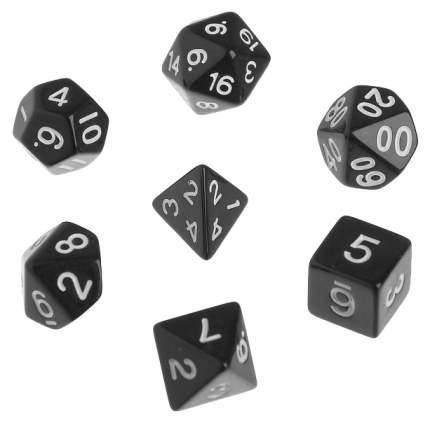 Классический набор дайсов, набор из 7 костей, черные Sima-Land