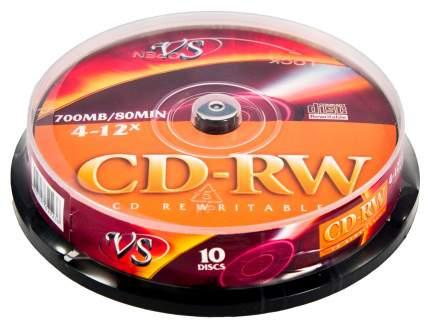 Носители информации VS/CD-RW/700MB/4-12x/Cake/10