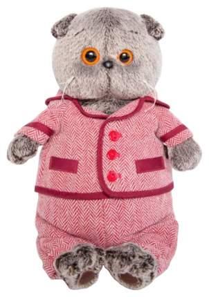 Мягкая игрушка Budi Basa Басик в красном пиджаке и брюках в ёлочку 25см