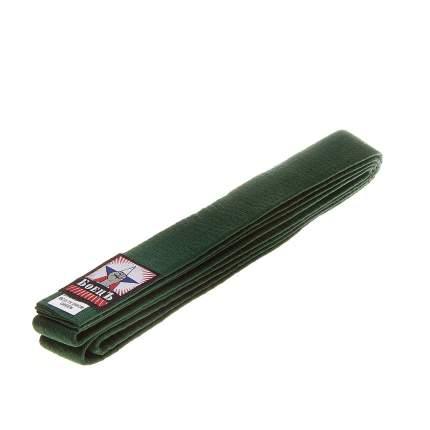 Пояс для каратэ БоецЪ BCU-75 зеленый, 240 см