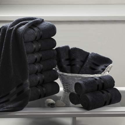 """Полотенце для рук """"Гармоника"""" Цвет: Черный (33х50 см - 12 шт)"""