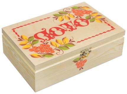 Игра Русское лото в деревянном расписном сундучке Рыжий кот ИН-7511