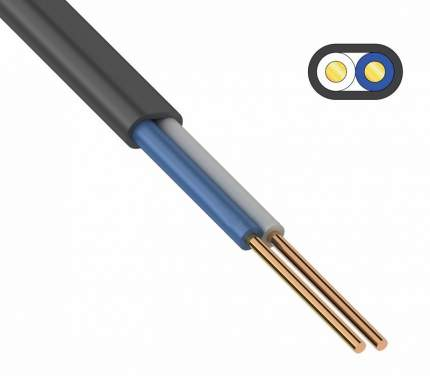 Силовой кабель EKF ВВГ-Пнг(А)-LS 2х2.5 Кабэкс