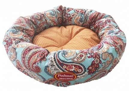 Лежак для собак и кошек Родные места ватрушка Золотой огурец, 50x50x15 см