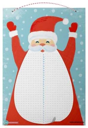 Адвент-календарь Издательство HappyLine «Дед Мороз» с отрывной бородой