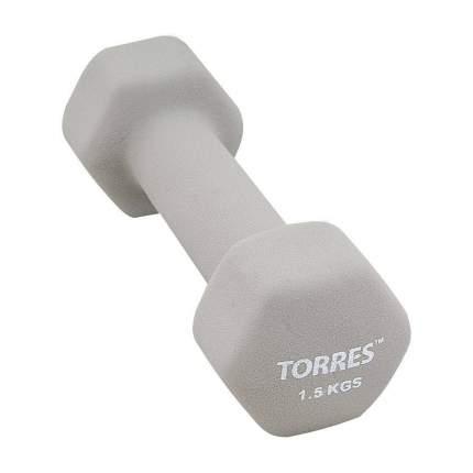 Гантель неопреновая Torres PL550115 1.5 кг 1,5 кг