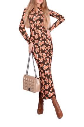 Платье женское FRANCESCA LUCINI F0817-6 коричневое 42 RU
