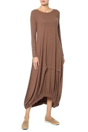 Платье женское Adzhedo 41658 коричневое 4XL