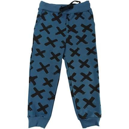 Штаны Папитто Крестики футер с карманами, на манжетах, размер 110