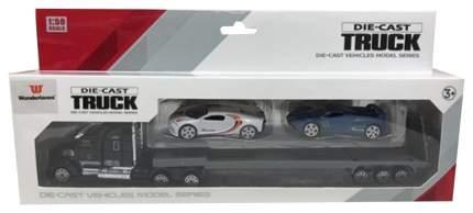 Автовоз металлический Junfa toys с 2 машинками 1:58 ZQ-10061