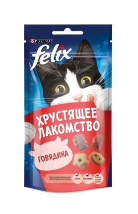 Лакомство для кошек Felix Хрустящее Лакомство, говядина, 60г