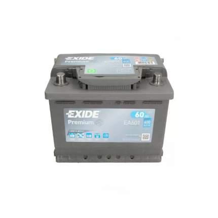 Exide Ea601 аккумуляторная Батарея 19.5/17.9 Рус 60ah 600a Carbon Boost EXIDE