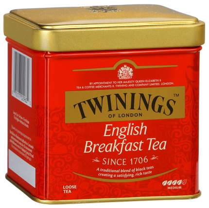 Чай черный Twinings английский для завтрака байховый 100 г