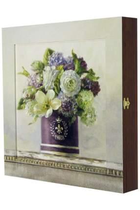 "Ключница ""Nai - tulips in aubergine hatbox"""