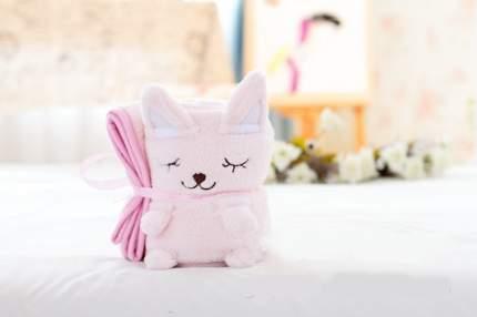 Плед-игрушка Котенок Розовый 100х80 см