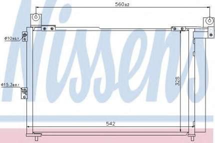 Радиатор кондиционера Nissens 940143