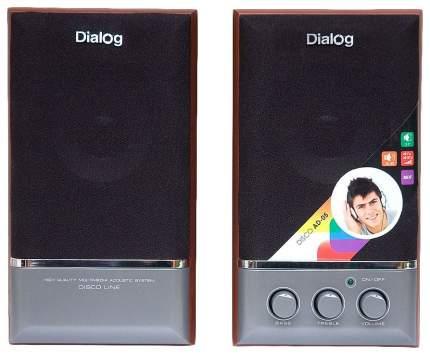 Колонки 2.0 Dialog AD-05 Disco Вишня