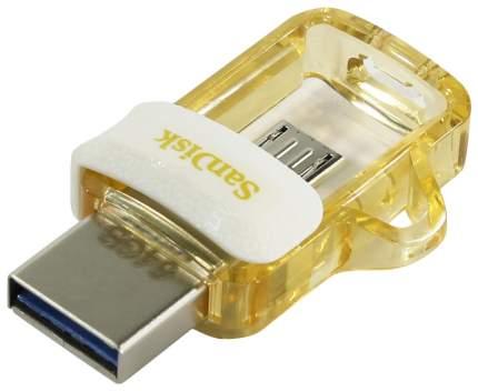 USB-флешка SanDisk Ultra Dual Drive m3.0 64GB White/Gold (SDDD3-064G-G46GW)