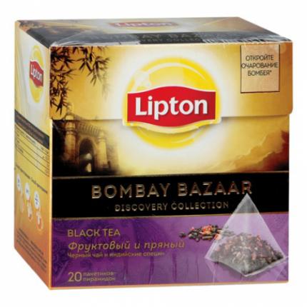 Черный чай Lipton Bombay bazaar 20 пакетиков