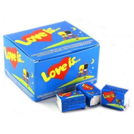 Жевательная резинка Love is банан-клубника 4.2 г 100 штук