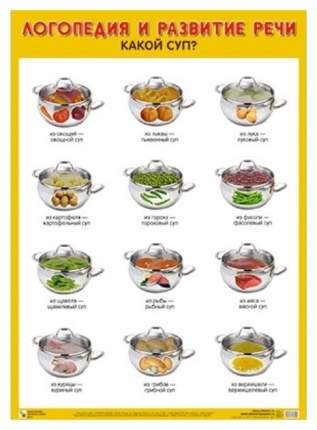 Плакат логопедия и развитие Речи какой Суп?