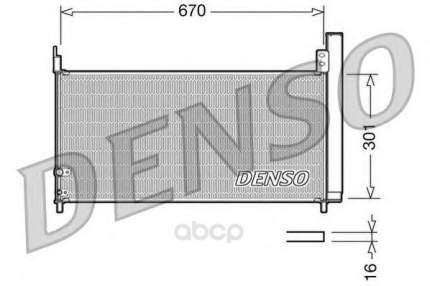 Радиатор охлаждения двигателя DENSO DCN50037