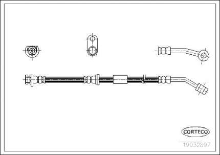 Шланг тормозной CORTECO 19032897