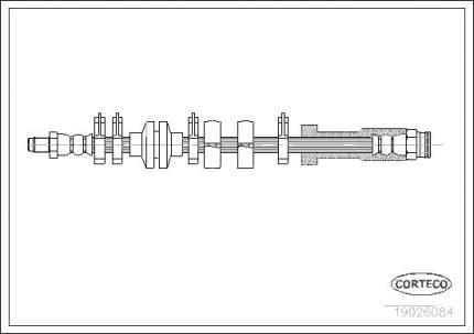 Шланг тормозной CORTECO 19026084
