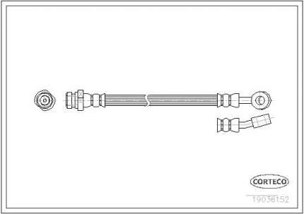 Шланг тормозной системы CORTECO 19036152