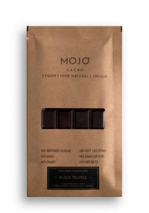 Горький шоколад 70% Mojo Cacao с черным трюфелем морской солью и тимьяном black truffle