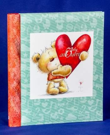 """Фотоальбом """"Медвежонок с сердцем"""" на 60 магнитных страниц 23х28 см"""